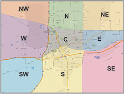 Garage sale locations map